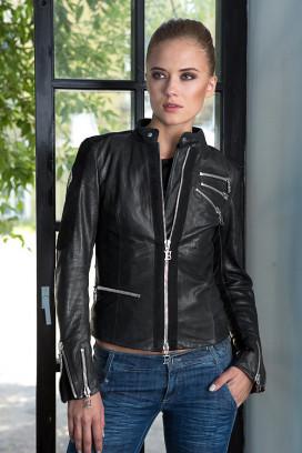 Женская кожаная куртка Elegante Black Edition
