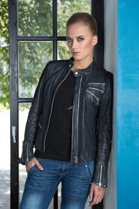 Женская кожаная куртка Elegante