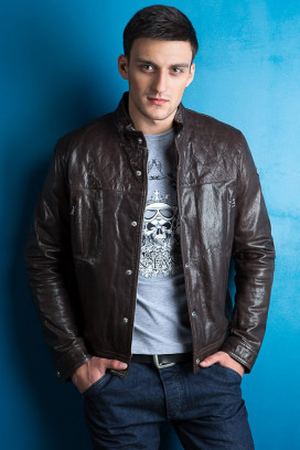 Кожаная куртка Brusco